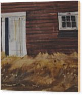 Broadside Barnside Wood Print