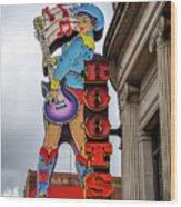Broadway Boots - Nashville Tn Wood Print