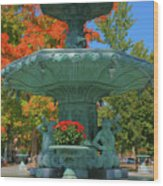 Broadway Fountain II Wood Print by Steven Ainsworth