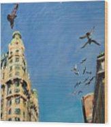 Broadway Pigeons No. 1 Wood Print