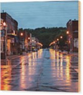 Broadway St. Excelsior Springs, Mo Wood Print