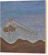 Brocken Mast Wood Print