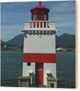 Brockton Point Light Wood Print