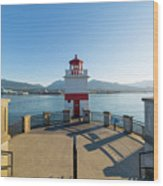 Brockton Point Lighthouse At Stanley Park Wood Print