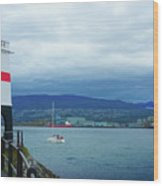 Brockton Point Lighthouse In Stanley Park Wood Print
