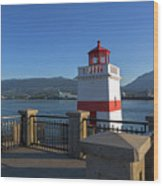 Brockton Point Lighthouse In Vancouver Bc Wood Print