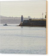 Brockton Point Lighthouse On Peninsula At Stanley Park Wood Print