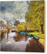 Broek In Waterland Wood Print