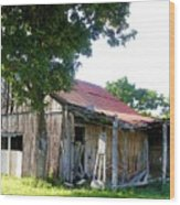Brokedown Barn Wood Print