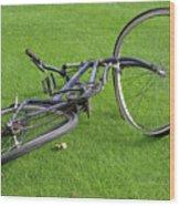 Broken Bike Wood Print