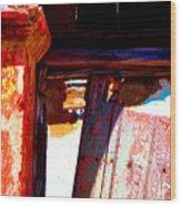 Broken Door By Michael Fitzpatrick Wood Print