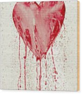 Broken Heart - Bleeding Heart Wood Print