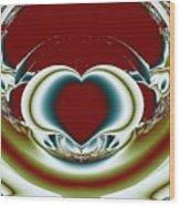 Broken Heart Wood Print