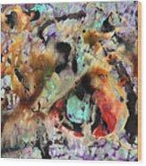 Broken Hearted Purple Crazy Man Blues Wood Print