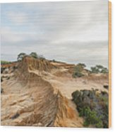 Broken Hill At Sunset Wood Print