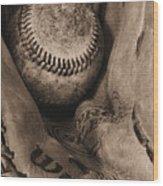 Broken In Bw Wood Print