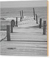 Broken Pier Wood Print