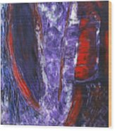 Broken Purple Heart Wood Print