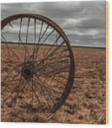 Broken Spokes Wood Print
