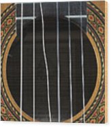 Broken String On A Classical Guitar Wood Print