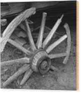 Broken Wheel Wood Print