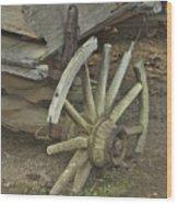 Broken Wheel Wood Print