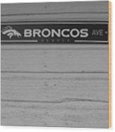 Broncos Avenue Wood Print