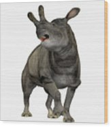 Brontotherium Profile Wood Print