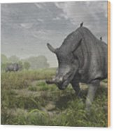 Brontotherium Wander The Lush Late Wood Print