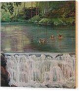 Bronxville Lake Wood Print