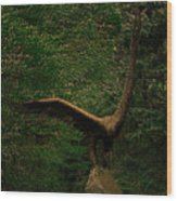 Bronze Eagle Wood Print