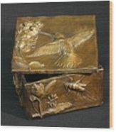 Bronze Hummingbird Box Wood Print by Dawn Senior-Trask
