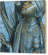Bronze Onieda Indian Girl Wood Print