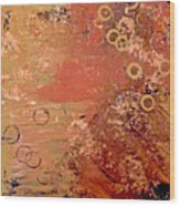 Bronze Oxidation Wood Print