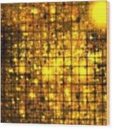 Bronze Solar Cubes Wood Print
