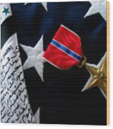 Bronze Star Wood Print