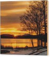 Bronze Winter Dawn Wood Print