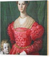 Bronzino's A Young Woman And Her Little Boy Wood Print