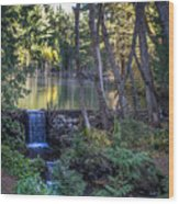 Brook Falls Wood Print