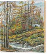 Brook In Autumn Wood Print