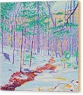 Brook In Winter, 1914 Wood Print
