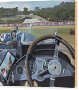 Brooklands From The Hot Seat  Wood Print by Richard Wheatland