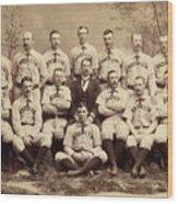 Brooklyn Bridegrooms Baseball Team Wood Print