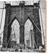 Brooklyn Bridge 2 Wood Print