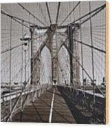 Brooklyn Bridge By Art Farrar Photographs, Ny 1930 Wood Print