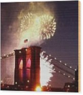 Brooklyn Bridge Celebration Wood Print