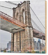 Brooklyn Bridge Close Up Wood Print