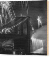 Brooklyn Bridge Columbus Quincentennial 1992 Wood Print