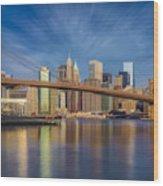 Brooklyn Bridge From Dumbo Wood Print