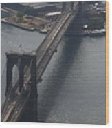 Brooklyn Bridge From The Beekman Wood Print